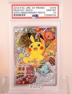 Pokemon Card 2016 Festa 20ème Anniversaire Pikachu 279 / Xy Psa 10