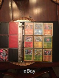 Pokemon Card Collection Dans Un Classeur, Holos, Rares, Charizard, 1ères Éditions, Lot
