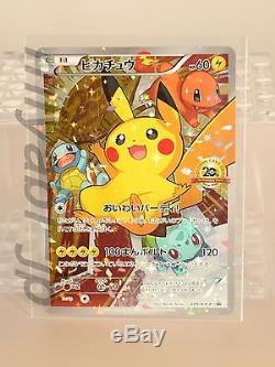 Pokémon Card Festa 2017 Pikachu 061 / Sm-p Et 20ème Anniversaire 279 / Xy-p