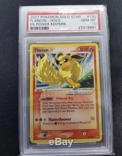 Pokémon Card Flareon Gold Star Psa 10 Ex Power Keepers Gem Mint Rare