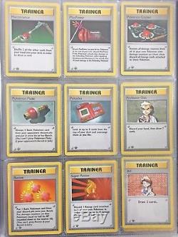 Pokemon Cards 1st Edition Ensemble De Base 74 Cartes Première Édition Holos Rares