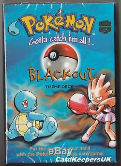 Pokemon Cards Blackout Thème Deck Base Set 1 Épuisé Nouveau Scellé