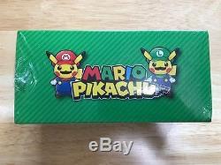 Pokemon Center Pikachu Mario Luigi Promo Box Poncho Russe Japonais