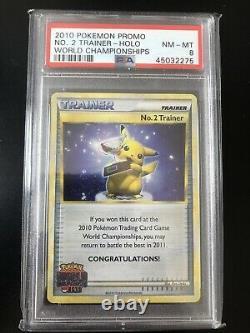 Pokemon Championnat Du Monde 2010 2e Place N ° 2 Trainer Psa 8 Pop 1 Carte Trophy