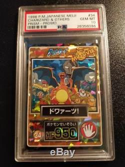 Pokemon Charizard Meiji Prisme Promo Japonaise Carte Rare Psa 10 Gem Mint 1998 Holo
