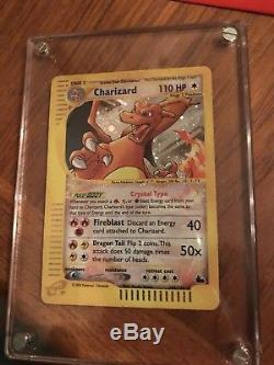 Pokemon Crystal Carte Charizard 146/144 Secret Rare Holo Foil 2003 Skyridge