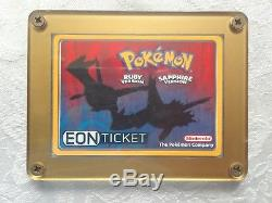 Pokemon Eon Billet Carte Ruby Sapphire Nintendo Gba E-reader Latios Latias Rare