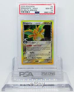 Pokemon Ex Delta Espèce Dracolosse # 3 Holo Foil Carte Rare Psa 10 Gem Mint