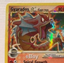 Pokemon Gold Star Red Gyarados 2006 Brillant Rare Holo Card Bon Etat 102/110