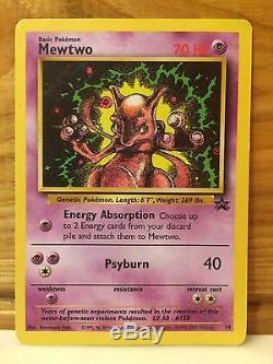 Pokemon Mewtwo Carte Promo Noire Étoile 14