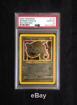 Pokemon Neo Destiny # 112/105 Carte Brillante Steelix Ultra Rare Psa 10