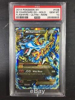 Pokemon Psa 10 Flashfire Set Complet De Charizard Secret Rare Full Art 7 Card Lot