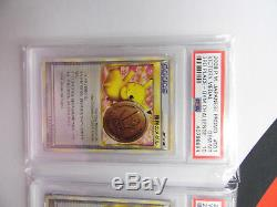 Pokemon Psa 10 Gem Mint 2009 Pikachu 1er 2ème 3ème Set Complet Médaille De La Victoire