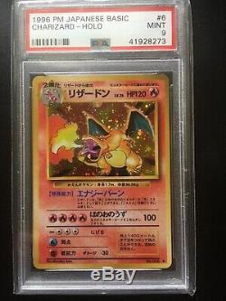 Pokémon Psa 9 Mint Charizard 1996 Set De Base Japonais Carte Originale Originale De Holo