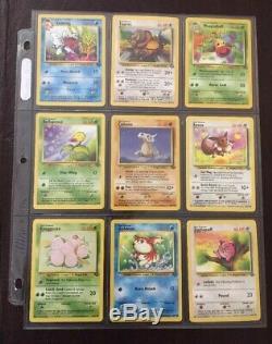 Pokemon Rare Complete Unlimited Jungle Set 64/64 100% Cartes Classiques Originales