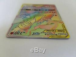 Pokemon Reshiram & Charizard Hyper Rare Gx 217/214 Carte Par Équipe Tag Monnaie Neuve Tcg
