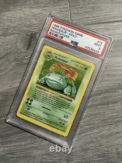 Pokemon Shadowless Venusaur Psa 9 Mint Holo Rare Carte 15/102 Base Set