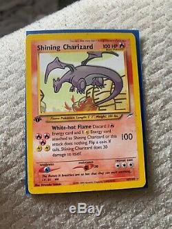 Pokemon Shining Charizard 107/105 1ère Édition Holo Rare Neo Destin Card- Nm