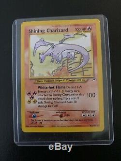 Pokemon Shining Charizard 107/105 Holo Secret Rare Carte Neo Destin