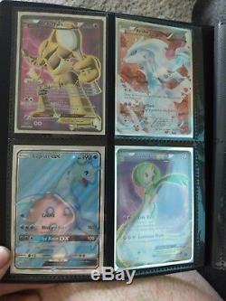 Pokemon Tcg 90 Card Lot Rare Ex, Gx, Full Art, Rare, Holo Et Ultra Pro Binder