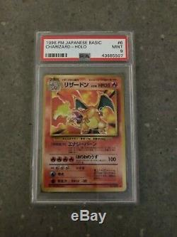 Pokemon Tcg Cartes Japonais Charizard De Base No. 006 Holo Rare Psa 9 Mint