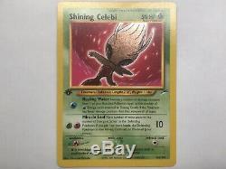 Pokemon Tcg Shining Celebi 1ère Édition Carte Neo Destiny Mint Ultra Ultra 106/105