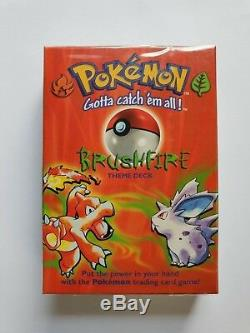 Pokemon Theme Decks X 3. Chaque Contient Holo Card. Scellé En Usine. 1999 Très Rare