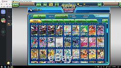 Pokemon Trading Card Game Compte En Ligne 88% Complet Avec 34 Ensembles Complets! Sensationnel