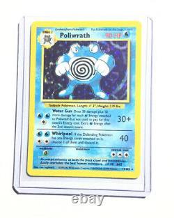 Poliwrath 13/102 Ensemble De Base Holo Pokemon Card Exc / Near Mint