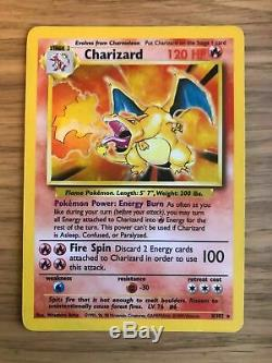 Proche Mint! Charizard (4/102) Jeu De Cartes Holo Pokemon. Rare! Rapide P & P