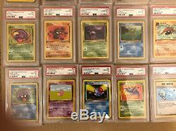 Psa 10 1ère Édition Fossiles Set Complete 62/62 Cartes Pokemon