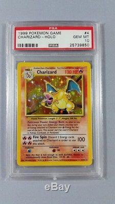 Psa 10 Charizard 1999 Carte Pokémon Holo