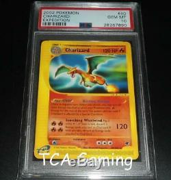Psa 10 Gem Mint Charizard 40/165 Expediton De Base Rare Carte Pokemon