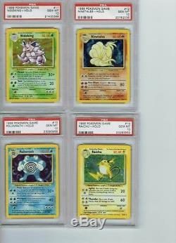 Psa 10 Gem Mint Illimité Base Set Pokemon Rare Holo Carte Wotc Pas De Charizard