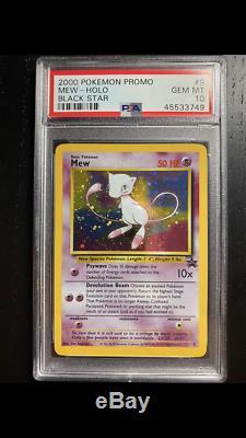 Psa 10 Gem Mint Mew # 9 Black Star Promo Holo Carte Pokémon! La Demande Rare Et En