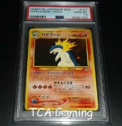 Psa 10 Gem Mint Typhlosion Neo Genesis Set Japonais Holo Rare Promo Carte Pokémon