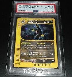 Psa 10 Gem Mint Umbreon H30 / H32 Skyridge Set Holo Rare Carte Pokemon