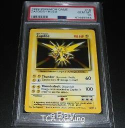 Psa 10 Gem Mint Zapdos 16/102 Base Set Holo Rare Carte Pokemon