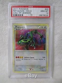 Psa 10 Gem Neuve Rayquaza Call Of Legends Holo Rare Carte Pokémon 20/95 B30