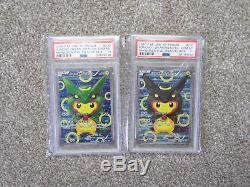 Psa 10 Poncho Rayquaza Pikachu # 230 & # 231 Cartes Japonaises Pokemon Promo Full Art