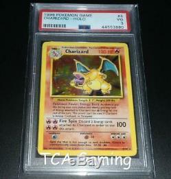 Psa 3 Vg Charizard 4/102 Set Base Holo Rare Carte Pokemon