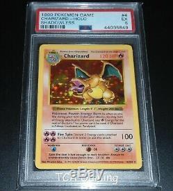 Psa 5 Ex Charizard 4/102 Shadowless De Base Holo Rare Carte Pokemon