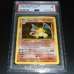 Psa 7 Near Mint Charizard 4/102 Ensemble De Base Holo Rare Carte Pokémon