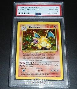 Psa 8 Nm-mint Charizard 4/102 Ensemble De Base Carte Pokemon Holo Rare