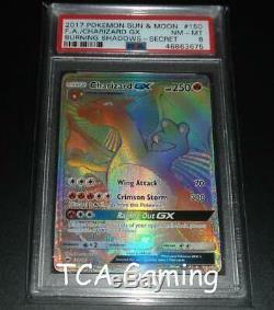 Psa 8 Nm-mint Charizard Gx 150/147 Sm Brûler Ombres Hyper Rare Carte Pokemon