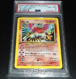 Psa 8 Nm-mint Ho-oh 7/64 1ère Édition Neo Revelation Holo Rare Carte Pokemon