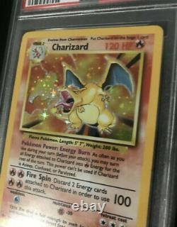 Psa 8 Nm-mt Charizard Base Set Unlimited Holo #4 Pokemon Card 1999 Wotc
