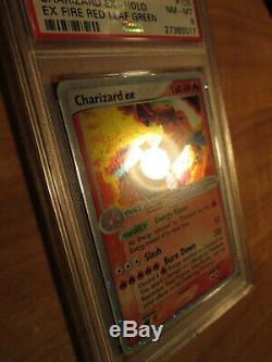 Psa-8 Pokemon Dracaufeu Ex Carte Rouge Feu Vert & Leaf Set 105/112 Ultra Rare Holo