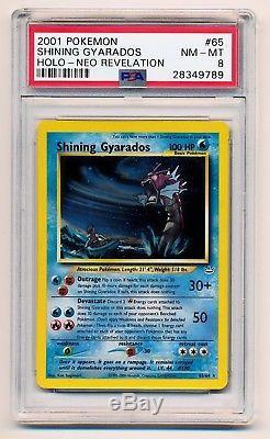 Psa 8 Shining Gyarados 65/64 Neo Révélation Secert Holo Rare Pokémon Carte Nm / Mt