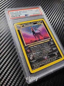 Psa 9 1ère Édition Houndoom Holo Rare Neo Revelation Pokemon Card #8 Wotc